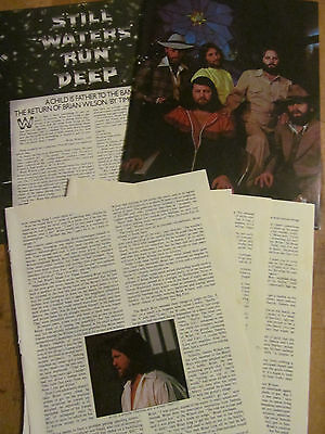 The Beach Boys, Brian Wilson, Five Page Vintage Clipping
