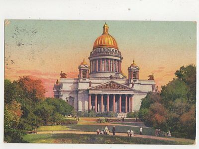 St Petersburg Cathedral St Isaac Russia Vintage Postcard 289b