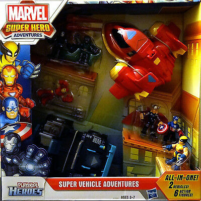 NEW Playskool Marvel 2013 Super Hero Adventures Squad Avengers - Free Shipping!