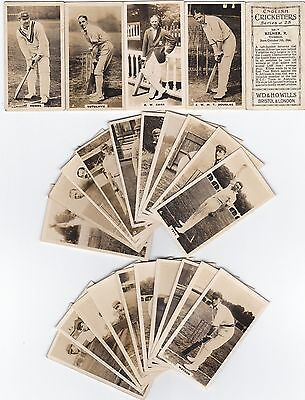 Cigarette Cards Wills English Cricketers Full Set Of 25