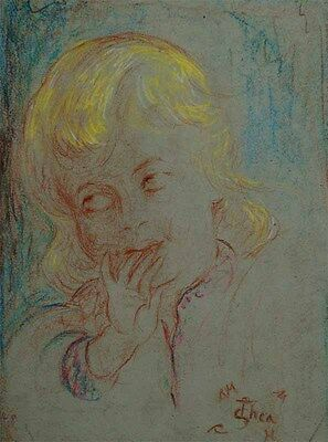"Im Louvre Paris  ""Thea Schleusner 1879-1964""-Kinder-Kopfstudie-International  xx"