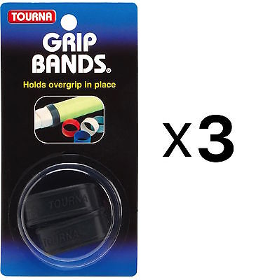Unique Silicone Grip Bands For Tennis Racquet To Hold Overgrip (3-Pack)