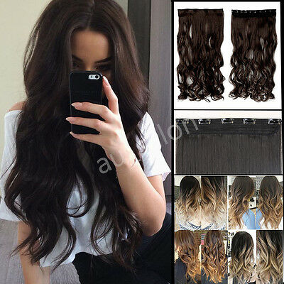 Popluar Real Thick Clip In Hair Extensions Straight Human Made Natural Hair VY5