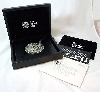 George & the Dragon Masterpiece medal 8oz .999 silver Royal Mint 2010 ONLY 500