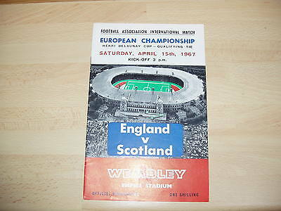 England v Scotland 1967 European Championship Qualifier at Wembley