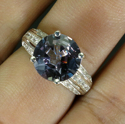 Stylish@@@ Color Change Spinel Sapphire Real 925 Sterling Silver Ring