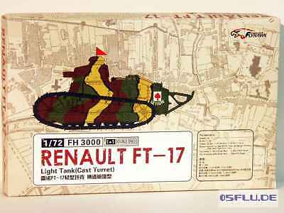 FLYHAWK 1:72 FH3000 Renault FT17 - (2 variants in the box) - NEU!