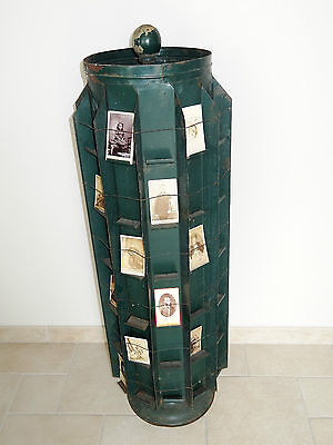 ancien GRAND presentoir a graine carte postale tourniquet photo postcard holder