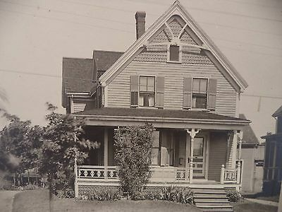 Antique B&W Photo Lovely Modest Home Great Architecture Alley Studio Salem MASS