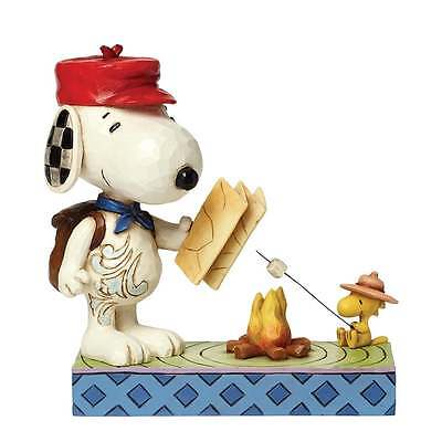 Jim Shore Campfire Friends Peanuts Figurine - Snoopy and Woodstock New
