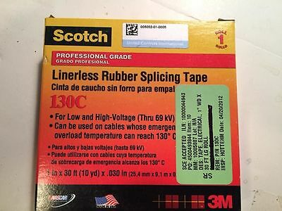"Scotch LINERLESS RUBBER SPLICING TAPE 130C 1"" x 30'   FREE SHIPPING"