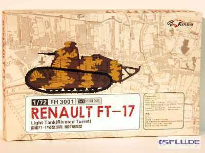 FLYHAWK 1:72 FH3001 Renault FT17 - (2 variants in the box) - NEU!