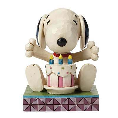 Jim Shore Happy Birthday Peanuts Figurine Snoopy and Cake New 4049417