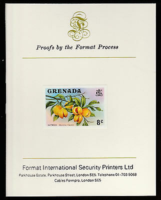 Grenada (450) 1975 Nutmeg 8c imperf on Format International PROOF  CARD
