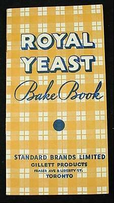 ROYAL YEAST BAKE BOOK Standard Brands Ltd Gillett Products Receipe Advertising