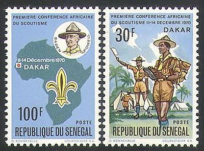 Senegal 1970 Scouts/Scouting/Rally/Baden-Powell/Youth/Leisure 2v set (n36270)