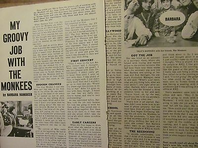 The Monkees, Two Page Vintage Clipping, #32