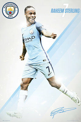 Manchester City FC Poster - STERLING 16/17 - New Man City Football poster SP1396