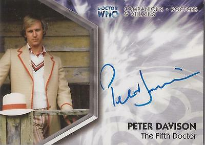 """Doctor Who Trilogy - DWTA1 Peter Davison """"The Fifth Doctor"""" Autograph Card"""