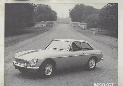 1967 MG MGB GT Brochure ww4642