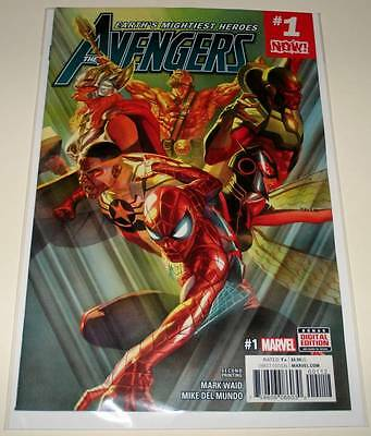 The AVENGERS # 1 Marvel Comic  February 2017  NM   2nd PRINTING VARIANT COVER