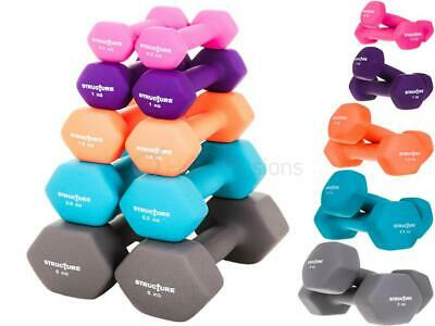 Structure Neoprene Hand Weights Dumbbells Iron Home Gym Fitness Aerobic Exercise