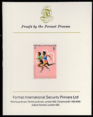 Maldives (487) 1976 Running imperf on Format International PROOF  CARD