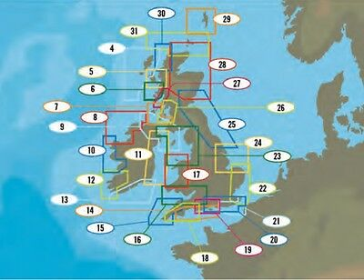C-Map NT+ &  MAX LOCAL Electronic Charts Marine Plotter UK AREAS