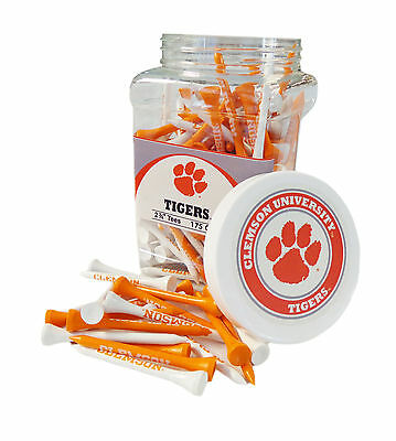 "NEW Team Golf NCAA Clemson Tigers Orange/White 175 Count 2-3/4"" Jar Of Tees"