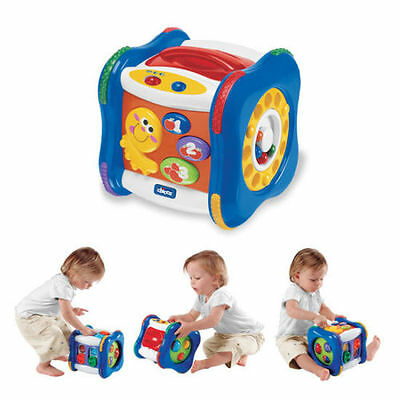 Chicco Bilingual Talking Cube Light & Sounds Educational Toy
