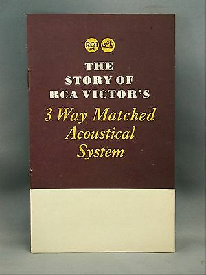RCA Victor 3 Way Matched Acoustical System Amplifier Loudspeaker Cabinet 1946
