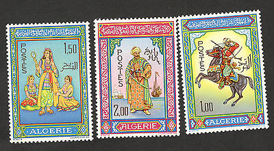 ALGERIA-MNH SET-Traditional Costumes-1966.