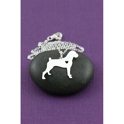 Boxer dog pendant  with heart necklace boxer dog collectible No1.01