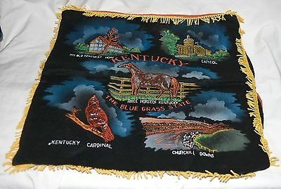 Kentucky Souvenir Pillow Case 17 inches by 17 inches.