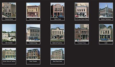 Woodland Scenics N Scale Town & Factory Building Kit (13 Buildings) New #1485