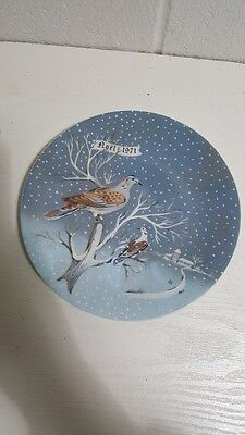 Haviland Limoges 1971 12 Days Of Christmas Plate 2 Turtle Doves