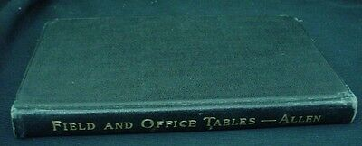 FIELD AND OFFICE TABLES Applicable to Railroads Railway 1931 Book Frank Allen