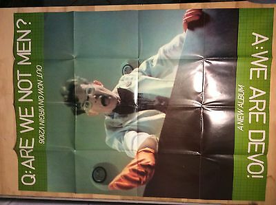 Devo Original Promo Posters For Are We Not Men?, Hard To Find UK Versions, 1978