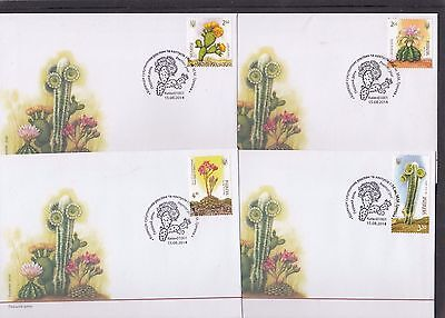 Ukraine 2014 Cactus Cacti First Day Cover FDC Ukraine special pmk