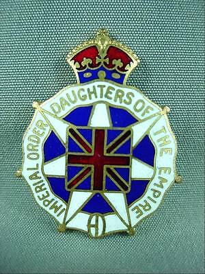 Enameled Imperial Order Daughters of the Empire Kings Crown WW1 Era WWII