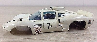 Strombecker AM GT Coupe Body Only 1/32 Scale Slot Car White #7 Vintage