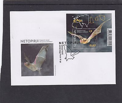 Slovenia 2014 Bats MS First Day Cover FDC Grad special pmk