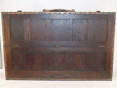 Beautiful Antique Handmade Carpenters Tool Box Signed WHAT A BEAUTY