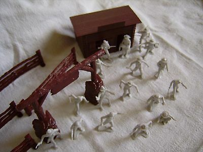 Marx Farm Blockhütte Cowboys Trapper 1:32   54 mm