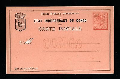 14679-etat independant du CONGO-OLD UNUSED POSTCARD 15 Ctmes.UPU.Carte postale