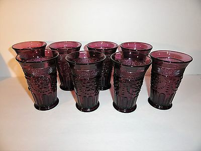 Imperial Glass 8 Amethyst Juice Glasses