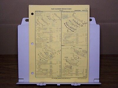 1973 1974 1975 PONTIAC VENTURA and GTO FACTORY PART NUMBER LIST gtc