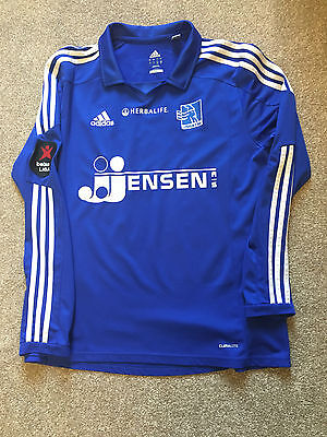 Gorgeous Lyngby Boldklub Football Club Long Sleeve Adidas Climate Shirt L Large