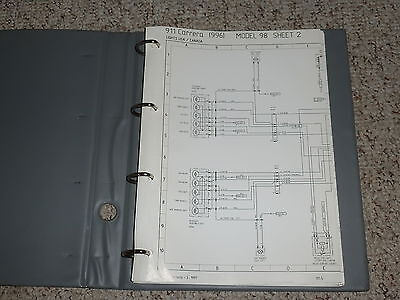 1998 porsche 911 carrera electrical wiring diagram manual targa convertible  996