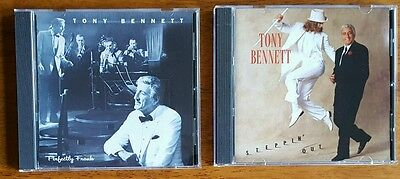 Lot of 2 Tony Bennett CD's Perfectly Frank & Steppin' Out In New Jewel Cases